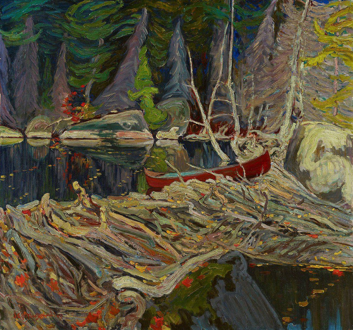 J.E.H. MacDonald. The Beaver Dam, 1919. Oil on canvas, Art Gallery of Ontario. Gift from the Reuben and Kate Leonard Canadian Fund, 1926. Photo © Art Gallery of Ontario, 840.